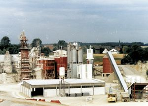 Quarry with factory in Azendorf 1984
