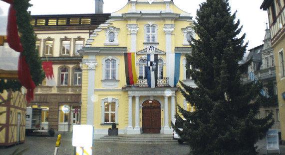 The town hall in Kulmbach