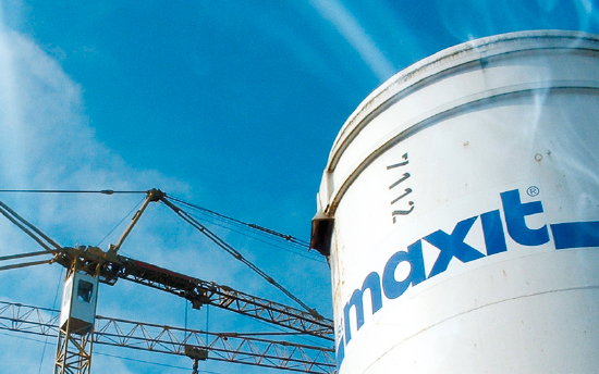 maxit Silo against a blue sky